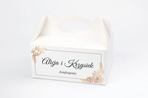 Pudełko na ciasto pasujące do zaproszeń w pudełeczku - wzór 14