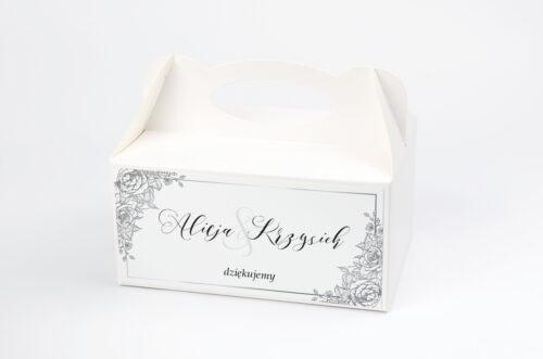 Pudełko na ciasto pasujące do zaproszeń w pudełeczku - wzór 2