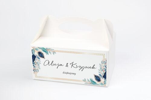 Pudełko na ciasto pasujące do zaproszeń w pudełeczku - wzór 4