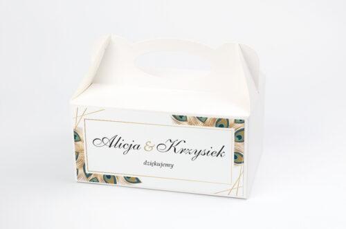 Pudełko na ciasto pasujące do zaproszeń w pudełeczku - wzór 5