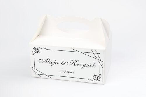 Pudełko na ciasto pasujące do zaproszeń w pudełeczku - wzór 7
