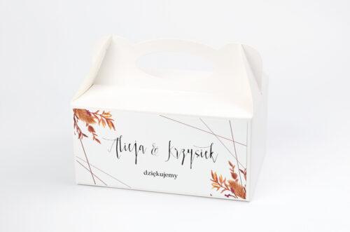 Pudełko na ciasto pasujące do zaproszeń w pudełeczku - wzór 8