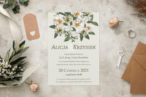 Zaproszenie ślubne - Kolorowe Bukiety - wzór 11