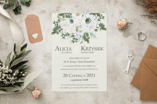 Zaproszenie ślubne - Kolorowe Bukiety - wzór 12