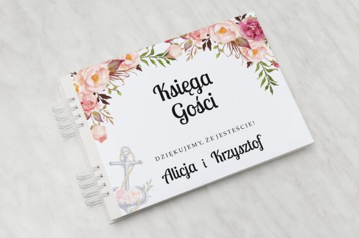 ksiega-gosci-slubnych-geometryczne-kwiaty-z-kotwica-papier-matowy-dodatki-ksiega-gosci