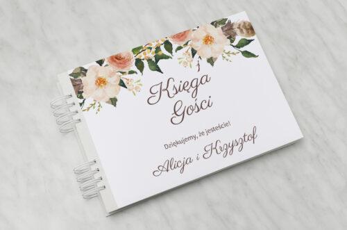 Księga gości ślubnych do zaproszenia Jednokartkowe Recyklingowe - Ciepłe kolory