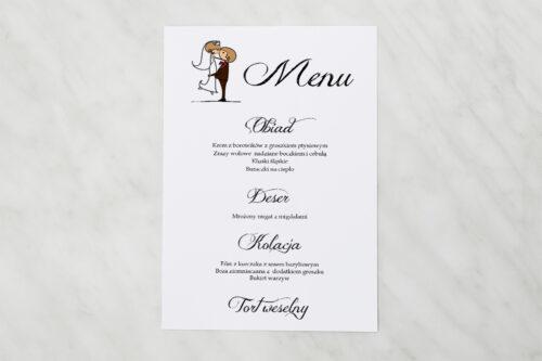Menu weselne pasujące do zaproszeń Lolki w objęciach