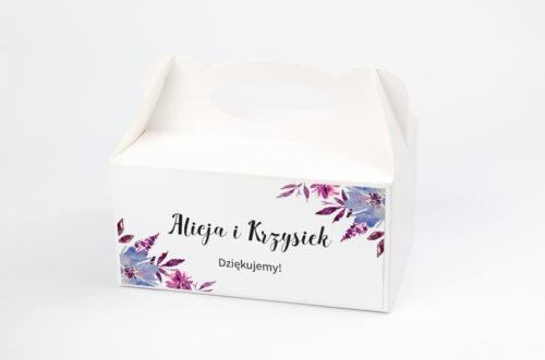 Ozdobne pudełko na ciasto Jednokartkowe Recyklingowe - Chabry