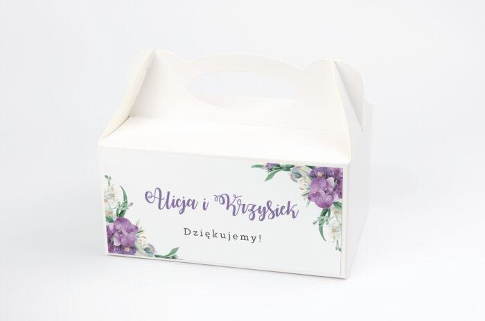ozdobne-pudelko-na-ciasto-jednokartkowe-recyklingowe-fioletowy-bukiet-papier-satynowany-pudelko-