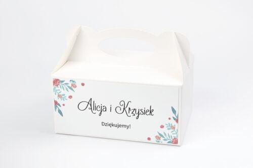 Ozdobne pudełko na ciasto Jednokartkowe Recyklingowe - Piwonia chińska