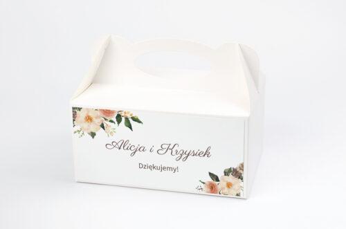 Ozdobne pudełko na ciasto do zaproszenia BOHO Recyklingowe – Ciepłe Kolory