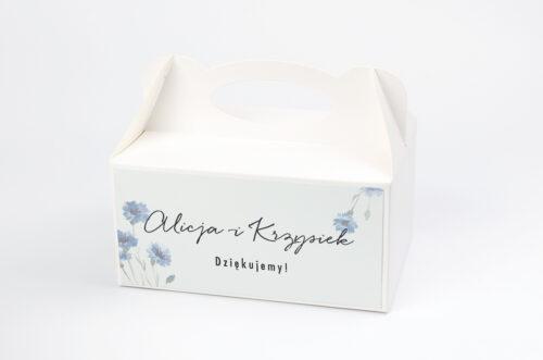 Ozdobne pudełko na ciasto Jednokartkowe Recyklingowe - Subtelne chabry