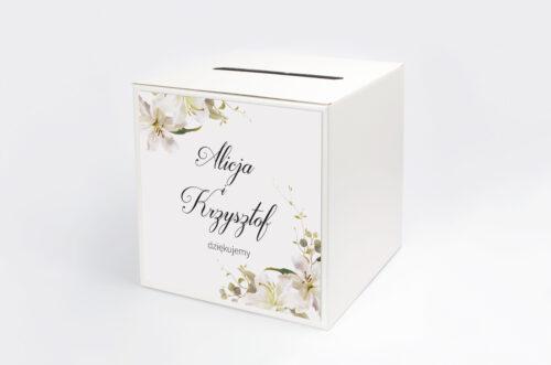 Pudełko na koperty Jednokartkowe Recyklingowe - Eleganckie lilie