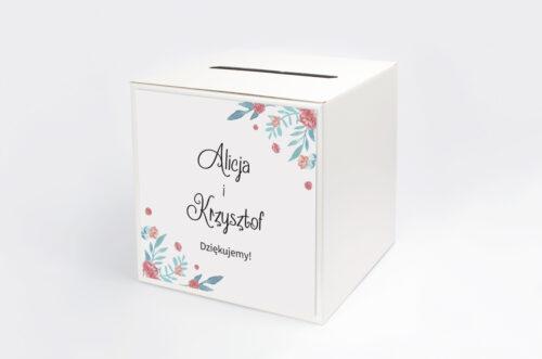 Pudełko na koperty Jednokartkowe Recyklingowe - Piwonia chińska