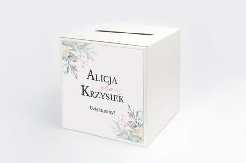Pudełko na koperty Jednokartkowe Recyklingowe - Róż i fiolet