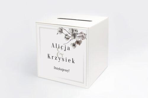 Pudełko na koperty Jednokartkowe Recyklingowe - Kwiaty bawełny