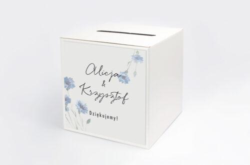 Pudełko na koperty Jednokartkowe Recyklingowe - Subtelne chabry