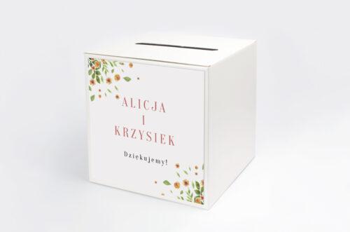 Pudełko na koperty Jednokartkowe Recyklingowe - Rozrzucone kwiaty