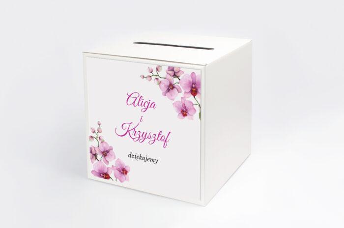 personalizowane-pudelko-na-koperty-do-zaproszenia-z-serduszkiem-na-kokardzie-storczyki-papier-satynowany-pudelko-