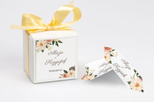 Pudełeczko z personalizacją do zaproszenia BOHO Recyklingowe - Ciepłe kolory