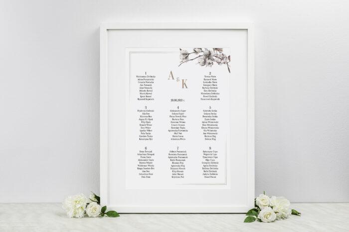 plan-stolow-weselnych-do-zaproszenia-jednokartkowe-recyklingowe-kwiaty-bawelny-dodatki-ramka-papier-matowy