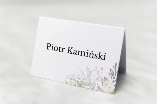 Winietka ślubna do zaproszenia Jednokartkowe Recyklingowe – Róż i fiolet