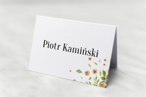 Winietka ślubna do zaproszenia Jednokartkowe Recyklingowe – Rozrzucone kwiaty