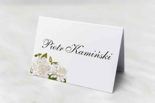 Winietka ślubna do zaproszenia Jednokartkowe - Białe róże