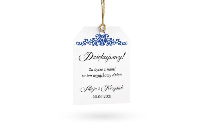 etykietka biała elegancka