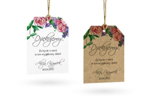 etykietka eco i biała w kwiaty