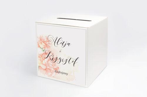 Pudełko na koperty do zaproszenia Namalowane Kwiaty – wzór 7