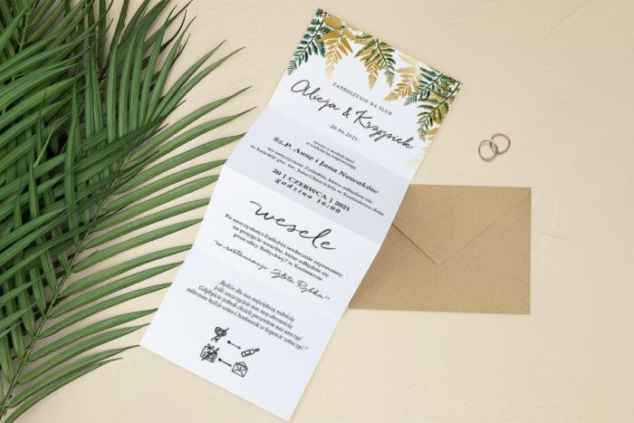 Zaproszenia-Tropikalne-Harmonijka-front-wzor-4