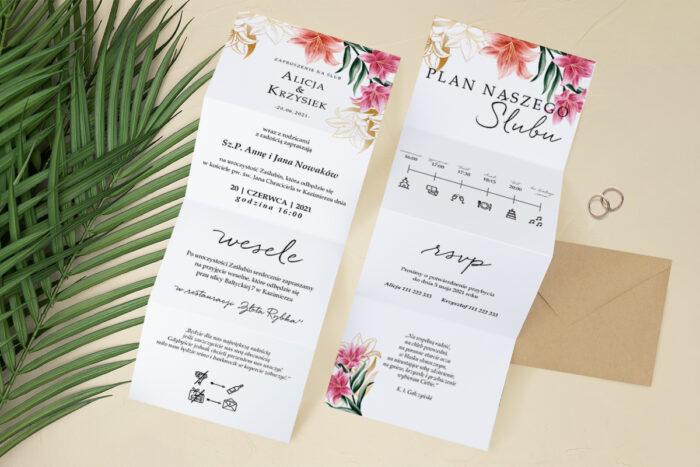zaproszenie-slubne-harmonijka-tropikalne-kwiaty-wzor-6-papier-satynowany-koperta-c6-eco-bez-wklejki