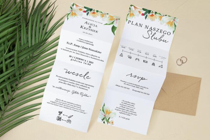 zaproszenie-slubne-harmonijka-tropikalne-kwiaty-wzor-7-papier-satynowany-koperta-c6-eco-bez-wklejki