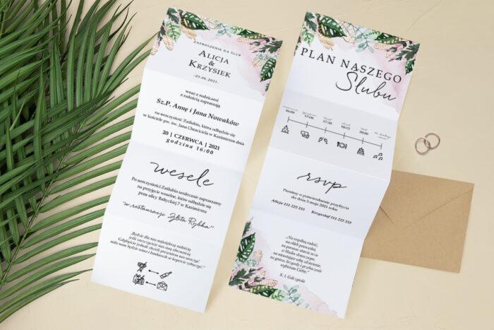 zaproszenie-slubne-harmonijka-tropikalne-kwiaty-wzor-9-papier-satynowany-koperta-c6-eco-bez-wklejki