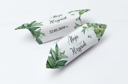 Krówki ślubne 1 kg do zaproszenia Kwiaty Vintage – wzór 8