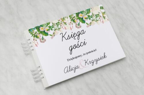 Księga gości ślubnych - Kwiaty Vintage – wzór 15