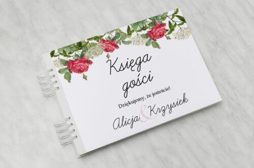 Księga gości ślubnych - Kwiaty Vintage – wzór 16