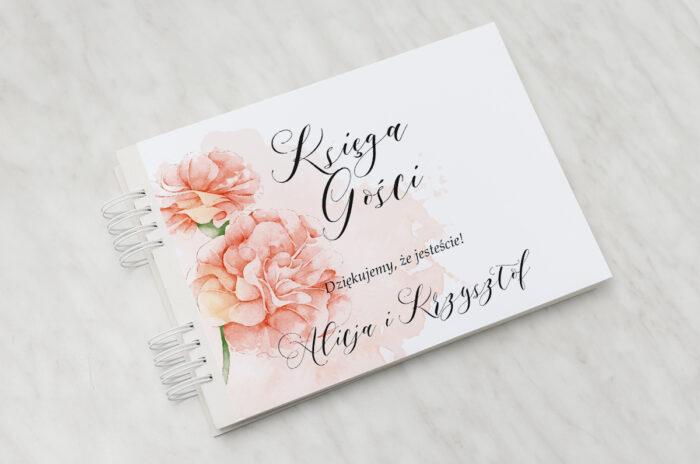 ksiega-gosci-slubnych-namalowane-kwiaty-wzor-7-papier-matowy-dodatki-ksiega-gosci