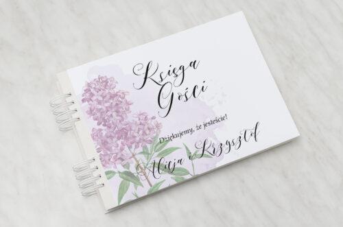 Księga gości ślubnych - Namalowane Kwiaty – wzór 19