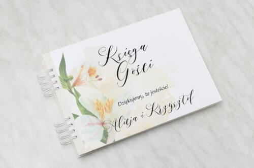 Księga gości ślubnych - Namalowane Kwiaty – wzór 24