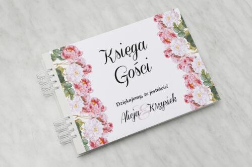 Księga gości ślubnych - Kwiaty Vintage – wzór 5