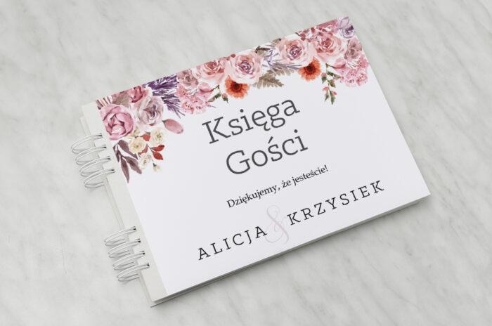 ksiega-gosci-slubnych-akwarelowe-bukiety-wzor-10-papier-matowy-dodatki-ksiega-gosci