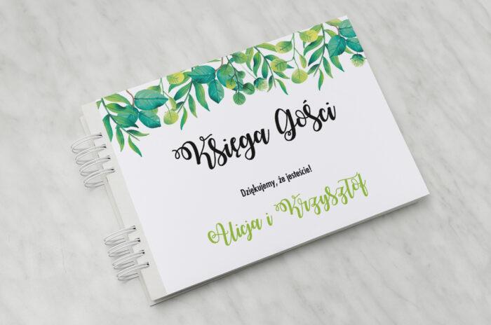 ksiega-gosci-slubnych-kwadratowe-zielony-wianek-papier-matowy-dodatki-ksiega-gosci