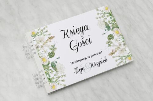 Księga gości ślubnych - Kwiaty Vintage – wzór 7