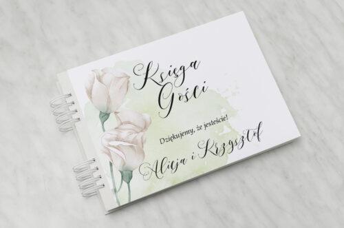 Księga gości ślubnych - Namalowane Kwiaty – wzór 2