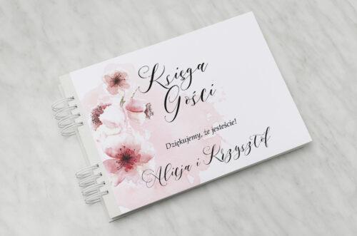 Księga gości ślubnych - Namalowane Kwiaty – wzór 6