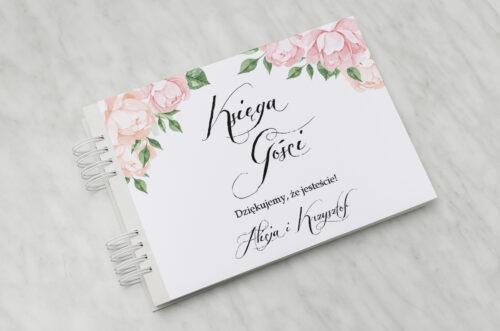 Księga gości ślubnych Wianki z kokardą - Herbaciane Róże