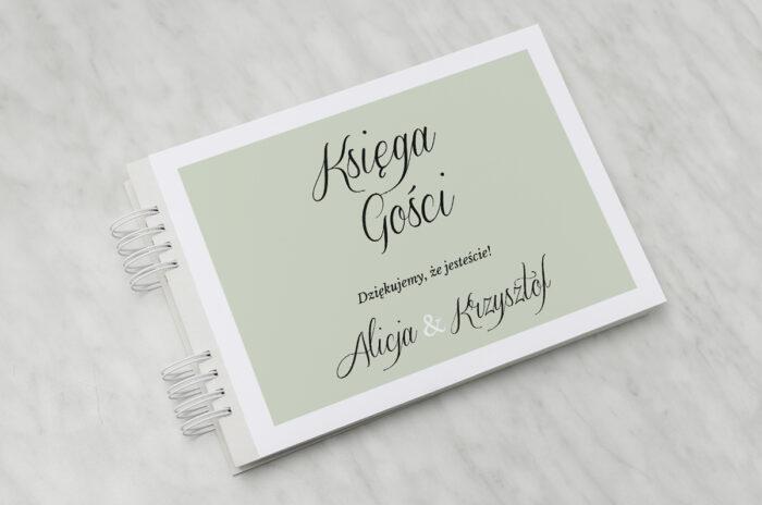 ksiega-gosci-slubnych-jednokartkowe-zdjecie-kalendarz-zielen-papier-matowy-dodatki-ksiega-gosci