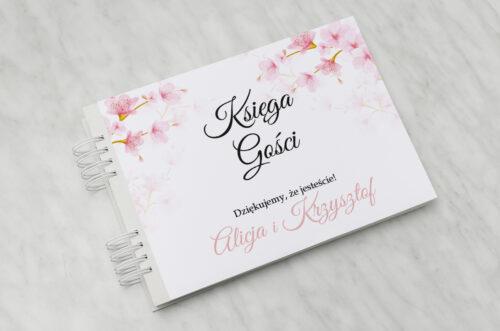 Księga gości ślubnych Zdjęcie&Kalendarz w folderze – Kwiaty jabłoni